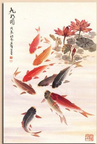 Affordable koi fish painting koi fish and diy koi pond for Cheap koi fish