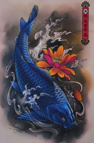 blue koi fish meaning