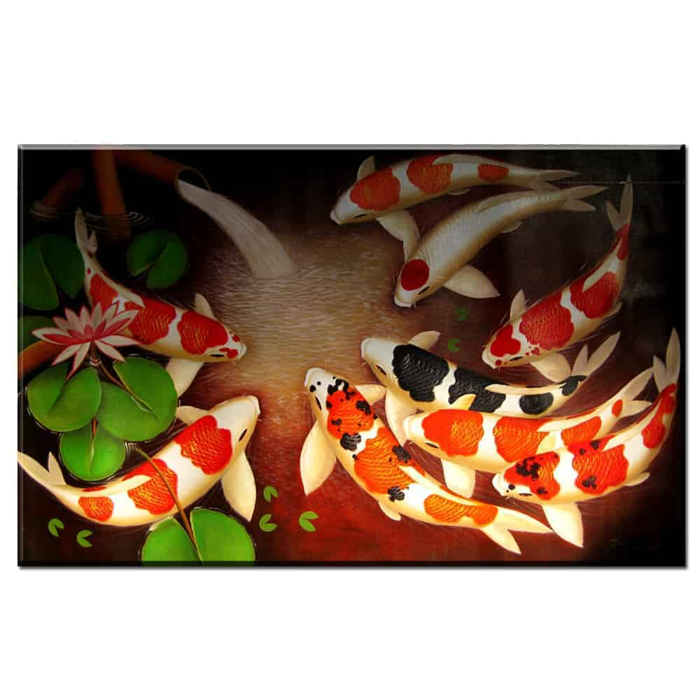 Captivating koi fish painting that will make you love it