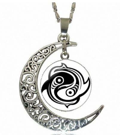 yin yang necklace koi fish hawain style