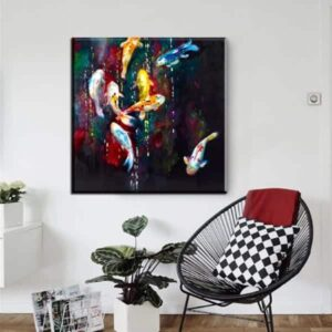 abstract koi fish 8 ginrin koi fish abstract oil painting