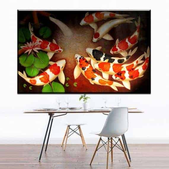 10 Best feng shui koi painting