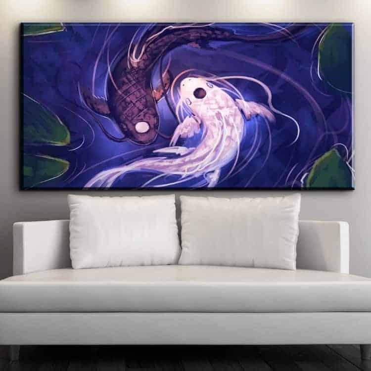 koi fish yin yang koi fish paintings for sale