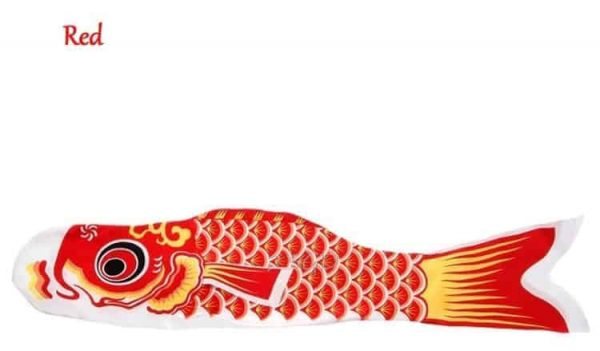 koi nobori flag red