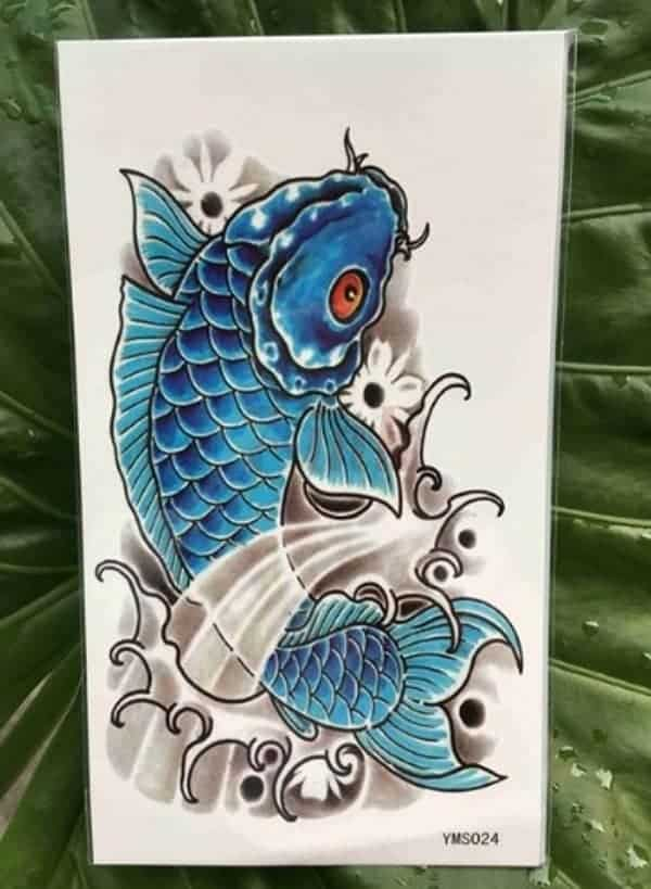 blue koi fish tattoo meaning