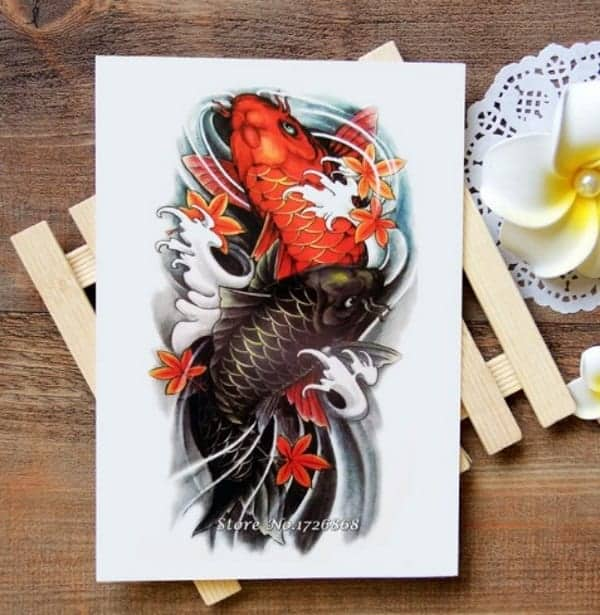 koi fish meaning red and black koi fish tattoo