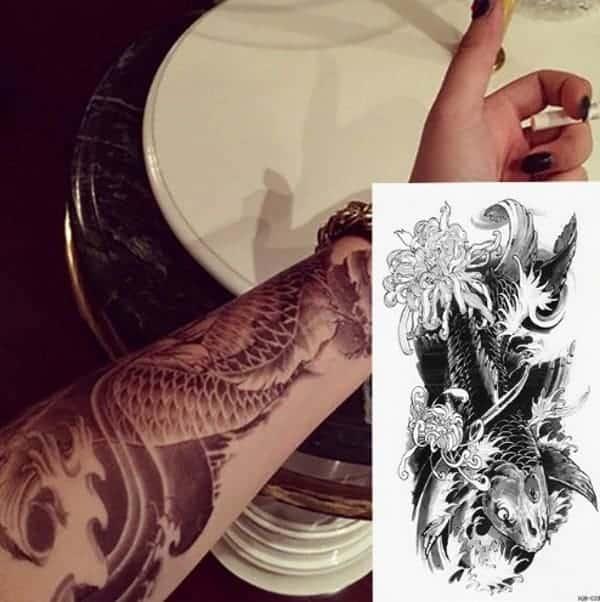 koi fish meaning black koi fish tattoo