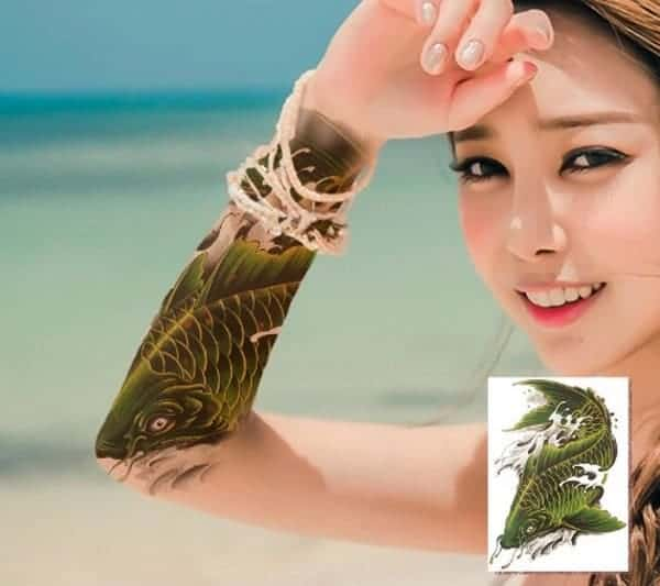 green koi fish tattoo koi fish meaning