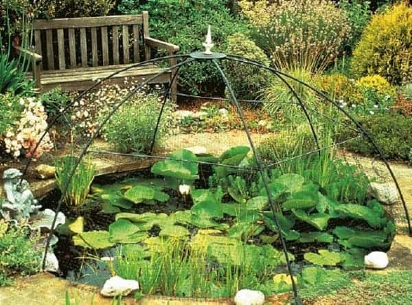 pond maintanance placing encloseur
