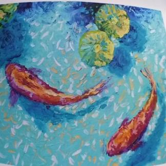 koi fish paintings for sale