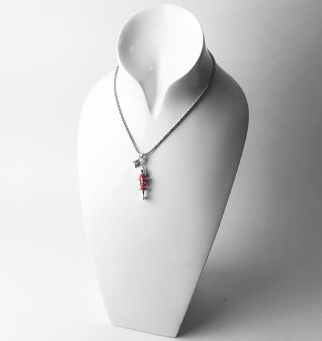 articulated koi fish pendant
