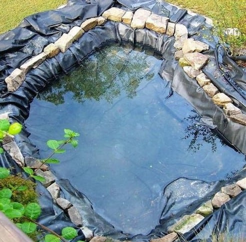 how to build a koi pond using FLEXIBLE-LINER PONDS