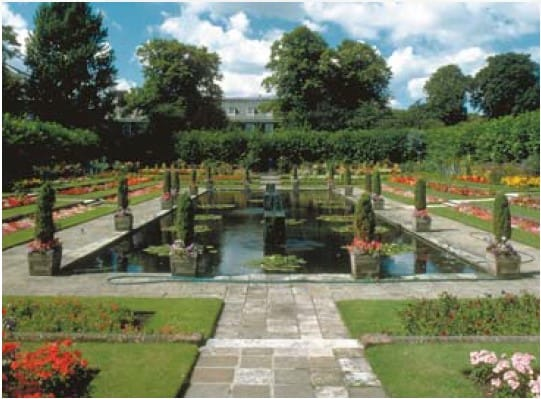 Koi pond grounds of European stately homes