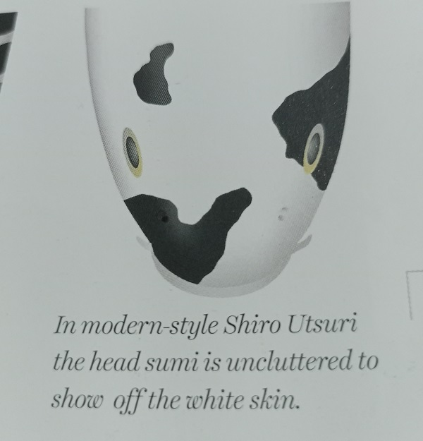 modern style head sumi pattern of shiro utsuri